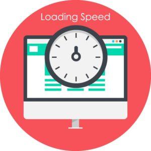 Website loading speed icon