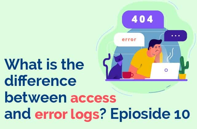 What is the difference between access and server logs