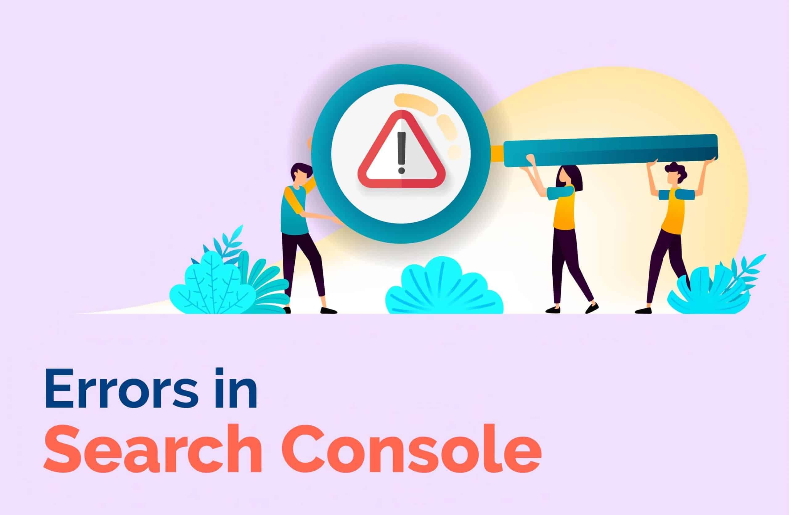 Errors in Search Console