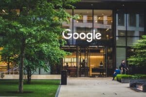 Google office front entrance in London