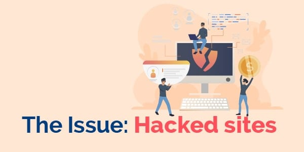 The issue hacked sites